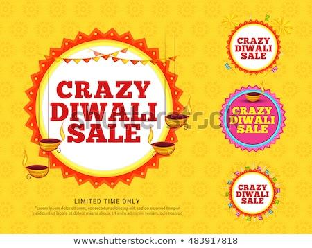 Festival diwali vente bannière feux d'artifice belle Photo stock © SArts