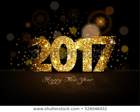 2017 abstract colorful low poly happy new year background Stock photo © SArts
