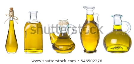set of extra virgin olive oil jars stock photo © marimorena