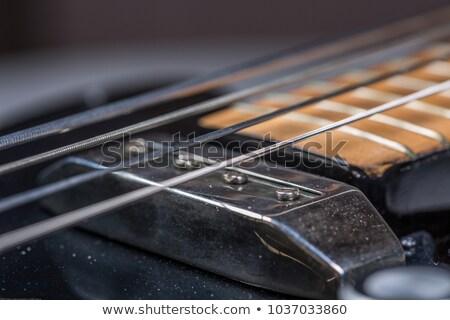 Pormenor elétrico baixo preto cinco Foto stock © diego_cervo