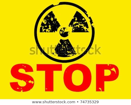 Geen nucleaire macht teken hand Rood Stockfoto © huhulin