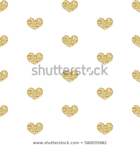 gold glitter heart seamless pattern isolated on white background shining heart endless background stock photo © lucia_fox