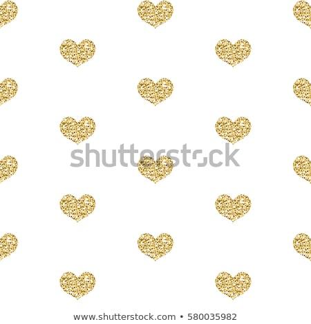 Goud schitteren hart geïsoleerd witte Stockfoto © lucia_fox