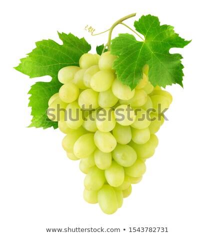 Bianco tavola uve fresche sfondo bianco Foto d'archivio © Digifoodstock