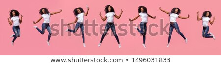 girl jumping up stock photo © sapegina