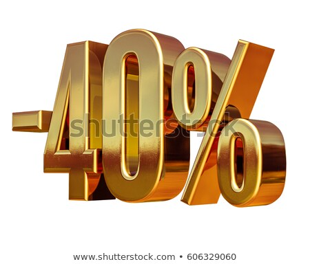 Gold  40 Minus Forty Percent Discount Sign Photo stock © Supertrooper