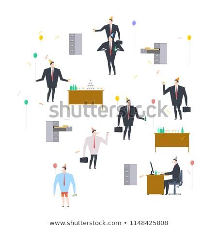 бизнесмен · Cap · улыбаясь · изолированный · белый - Сток-фото © maryvalery