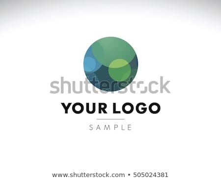 Resumen diseño de logotipo partículas diseno empresarial color Foto stock © SArts
