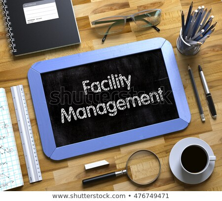 Facility Management Concept on Small Chalkboard. 3D Illustration. Stock photo © tashatuvango