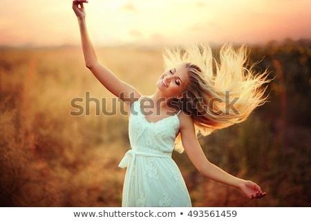 verbazingwekkend · jonge · sexy · blond · meisje · poseren - stockfoto © konradbak