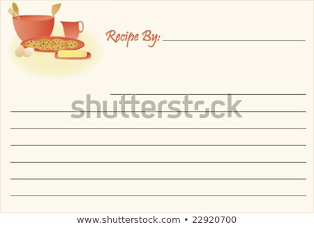 old fashioned recipe card stock photo © kariiika