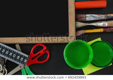 zwarte · penseel · textuur · abstract · ontwerp · achtergrond - stockfoto © wavebreak_media