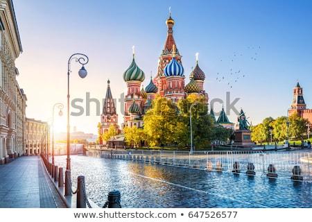 Pó pintar cores russo bandeira isolado Foto stock © psychoshadow