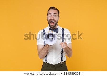Oktoberfest gritar jovem faminto sensual mulher Foto stock © Fisher