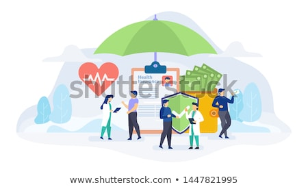 Health Insurance Policy Icon. Flat Design. Stock photo © WaD