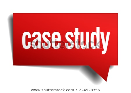 case study button 3d illustration stockfoto © tashatuvango