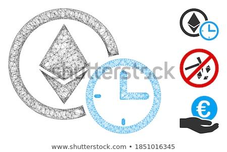 Ethereum Credit Time Flat Icon Stock photo © ahasoft