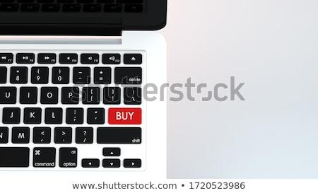Red Wealth Key on Keyboard. 3D. Stock photo © tashatuvango
