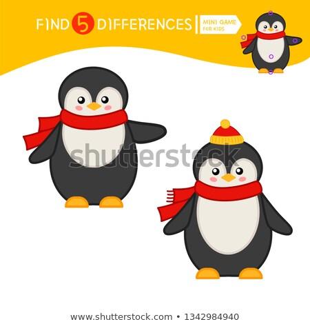 Encontrar diferencia pingüino juego ninos tarea Foto stock © Olena
