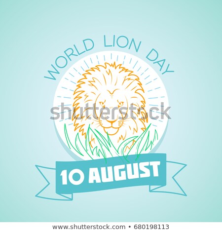 Holiday   World Lion Day linear style Stock photo © Olena