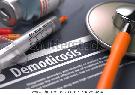 Acne - Printed Diagnosis. Medicine Concept. 3D Illustration. Stock photo © tashatuvango