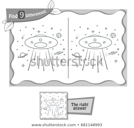 Ufo spel verschillen kinderen volwassenen taak Stockfoto © Olena