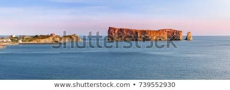 Panoramic view in Perce Quebec Stock photo © elenaphoto