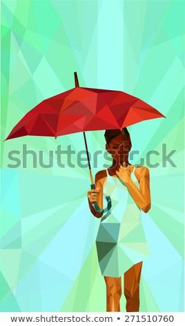 少女 太陽 パラソル 女性 楽しい ストックフォト © IS2