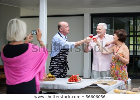 Iki adam barbekü gıda eğlence şef Stok fotoğraf © IS2