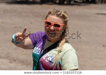 Giovani felice hippie donna Foto d'archivio © RAStudio