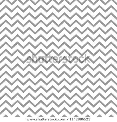 Foto stock: Trendy Simple Seamless Zig Zag Silver Geometric Pattern On White Background Vector Illustration
