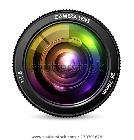 3D · digitale · camera · lens · geïsoleerd · achtergrond · digitale - stockfoto © tashatuvango