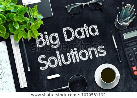 Stockfoto: Business · integratie · zwarte · schoolbord · 3D