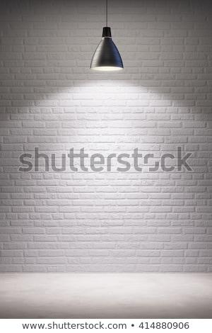 Bolt sablon tégla üzlet kirakat árnyék Stock fotó © romvo