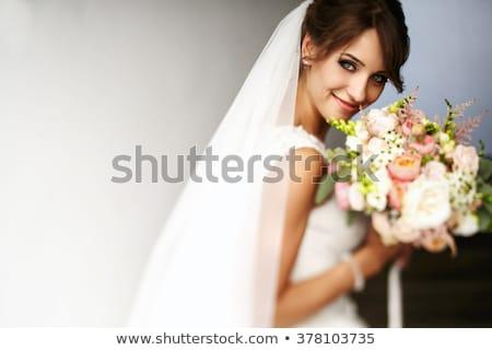 novia · ramo · flores · mujer · manos - foto stock © anna_om