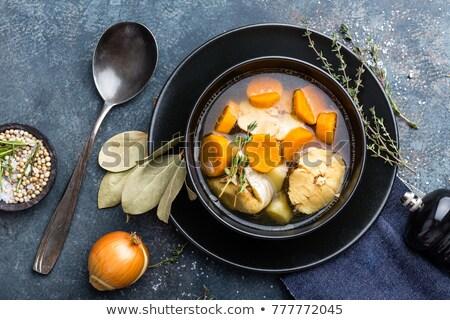 frutti · di · mare · alimentare · zuppa · vegetali · piatto - foto d'archivio © yelenayemchuk