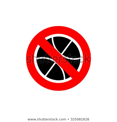 Stop basketball. It is forbidden to play basketball. Frozen is a Stock photo © popaukropa