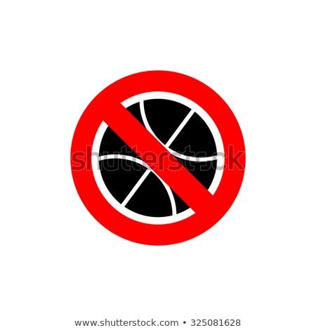 Stop kosárlabda tilos játék fagyott játék Stock fotó © popaukropa