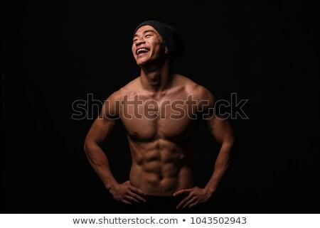 torso · zweten · man · topless · geïsoleerd · zwarte - stockfoto © arturkurjan