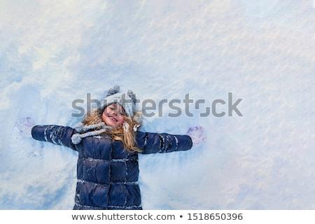 Sétál tél erdő fickó lucfenyő tájkép Stock fotó © Kotenko