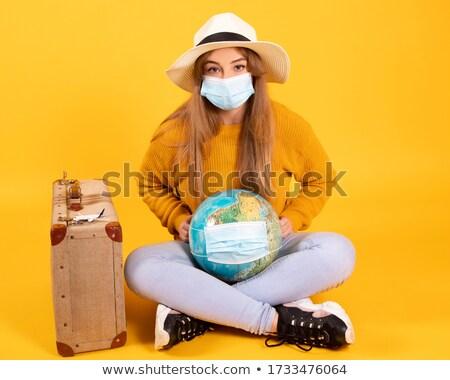 スーツケース 旅行 外に フォーカス 女性 ストックフォト © palangsi