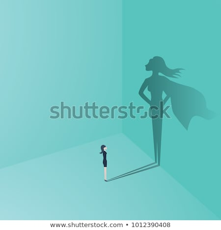 Foto d'archivio: Super · donna · eroe · costume · illustrazione · volto · di · donna