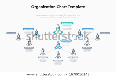 Company organization hierarchy schema template Stock photo © orson