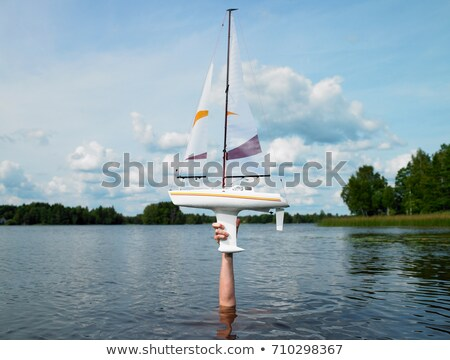 Remote-controlled boat above the water Stock photo © IS2
