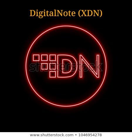 Digitalnote Cryptocurrency - Vector Colored Logo. Stock photo © tashatuvango