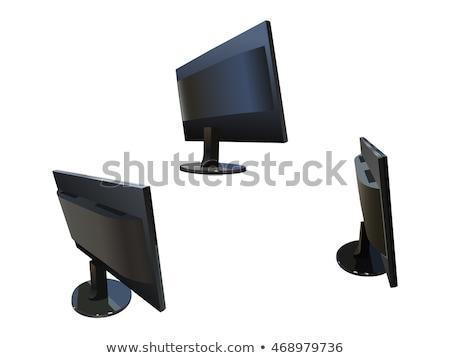 Bilgisayar monitörü televizyon vektör karikatür örnek Stok fotoğraf © RAStudio