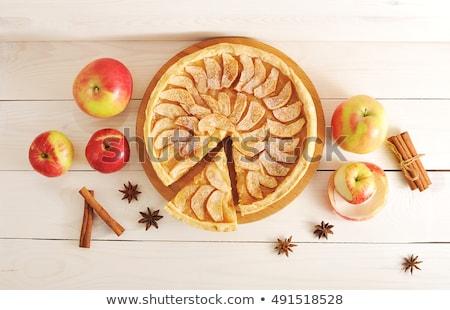 almás · pite · szeletel · gyümölcs · hozzávalók · egy · oldal - stock fotó © m-studio