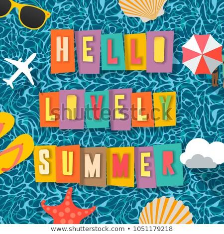 vector · zomer · strand · partij · flyer · ontwerp - stockfoto © ikopylov