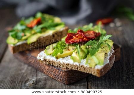 brunch · gıda · alışveriş · siyah · beyaz · tahta - stok fotoğraf © m-studio