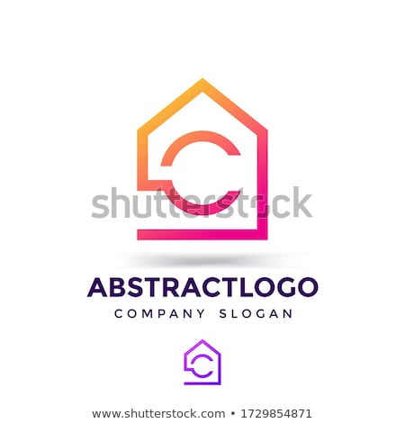 Casa logotipo modelo letra c edifício projeto Foto stock © taufik_al_amin